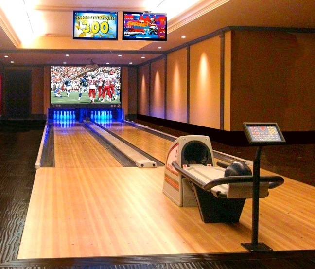 bowling alley for home, Home bowling alley installations
