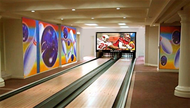 Residential bowling alley, bowling lanes for home