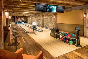 How much is a home bowling alley, home bowling alley