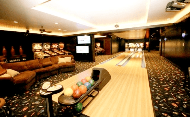 2 Lane Private Home Bowling Alley Installaiton