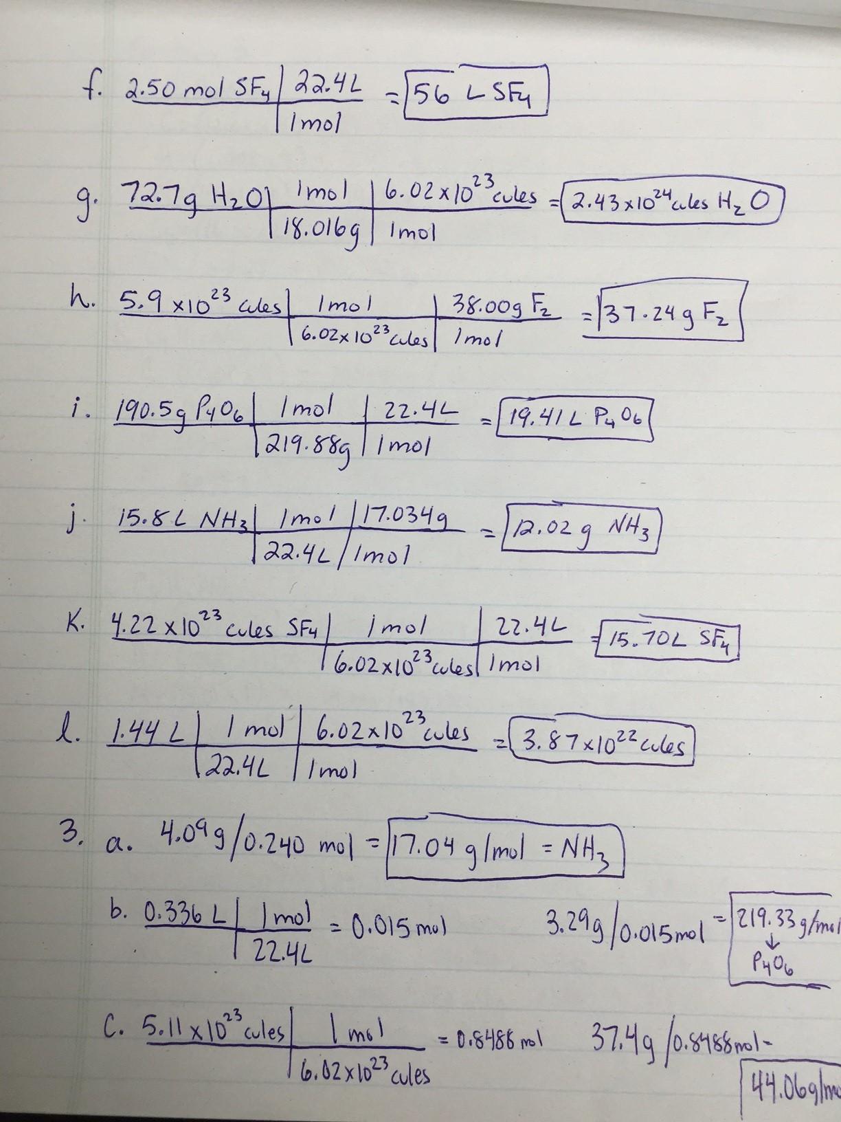 Stoichiometry Study Guide
