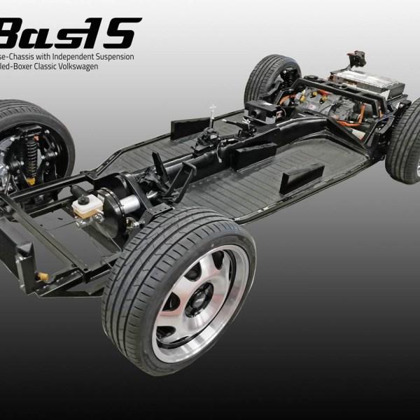 elektroauto Prototypenbau eBasIS Chassis - Murschel Electric Cars in Kooperation mit eClassisc entwickelt den Prototype für das elektrische rolleing chassis für den Käfer