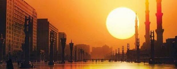 sunset mecca