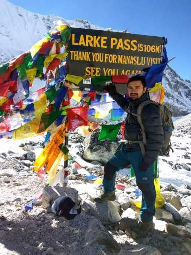 Dr. Yogesh Subedi at Larke Pass