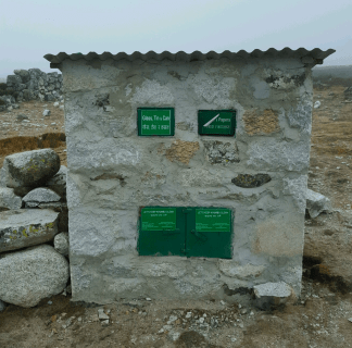 trekking nepal trash bins