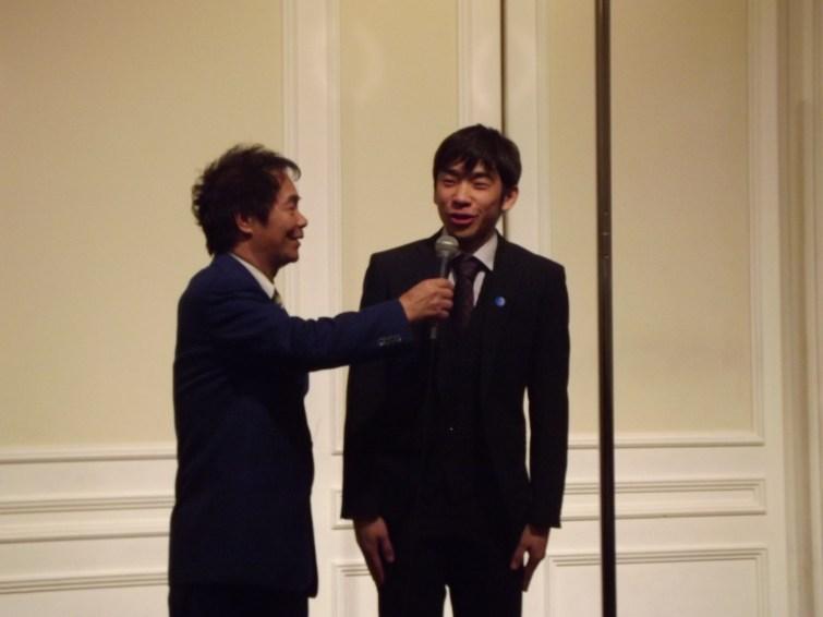 武蔵川親方とCMで共演し、地元大阪出身のフィギュアスケート織田信成さんも駆けつけて下さいました。