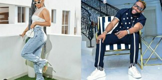 Hilarious conversation between Toke Makinwa and singer KCee about Bone straight hair
