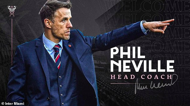 Phil Neville?appointed head coach of David Beckham?s Inter Miami in US