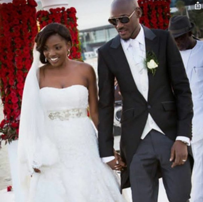 """I married my first crush"" Annie Idibia expresses her love for Tuface with beautiful words as they celebrate wedding anniversary"