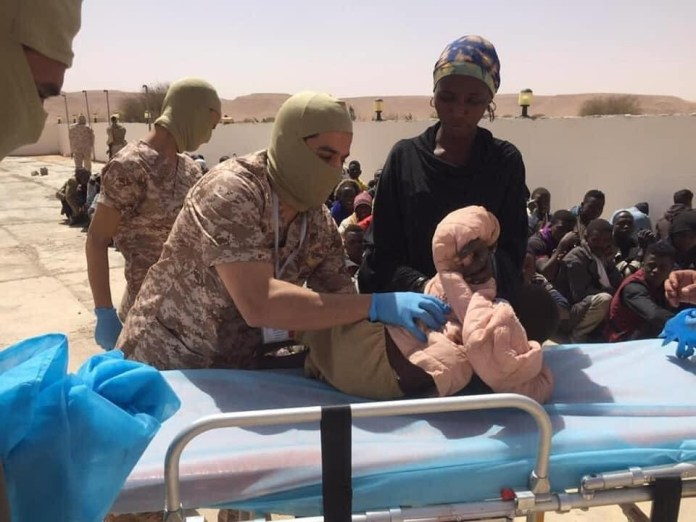 Libyan Army raids human smuggling dens, arrest 16 suspects, rescues 85 abducted African migrants