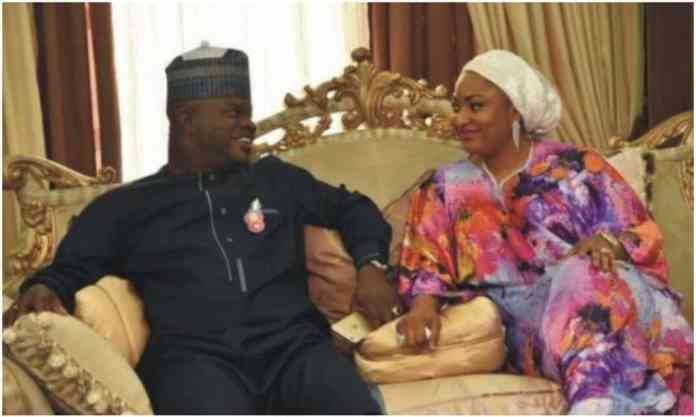 Gov Bello and his wife