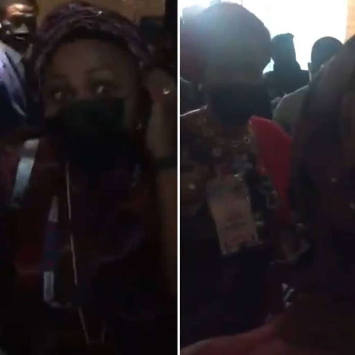 Senator Oluremi Tinubu in heated argument with woman who she allegedly called a thug (video)