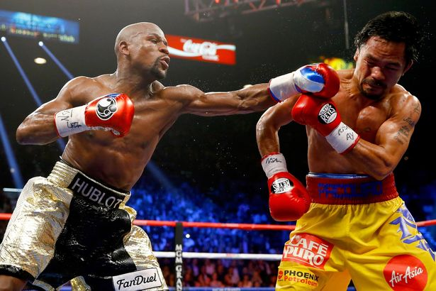 Floyd Mayweather beat Manny Pacquiao in 2015