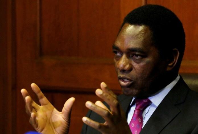 Zambian opposition leader, Hakainde Hichilema wins presidential election