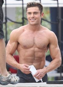 zac efron ripped