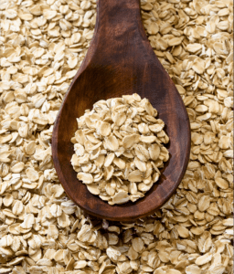 raw whole rolled oats