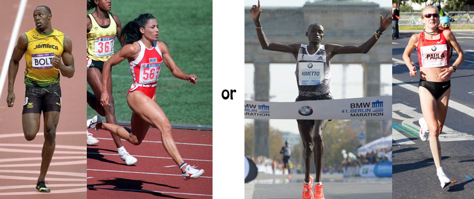 Which body-type looks better, a sprinter or a marathon runner?