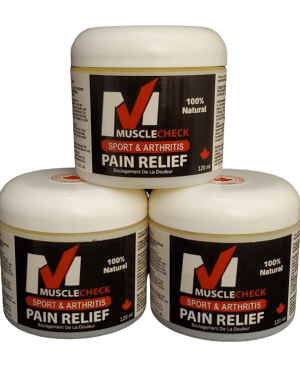Muscle Check all natural pain relief 120ml Jar times 3
