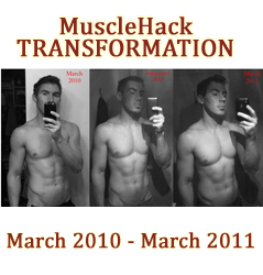 153lbs to 180lbs. A MuscleHack Transformation. No Drugs, No Cardio