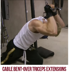 Cable Bent-Over Triceps Extensions