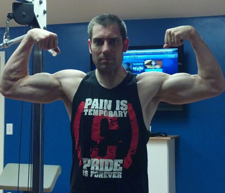 Dave starting to pack on the pounds of muscle on THT