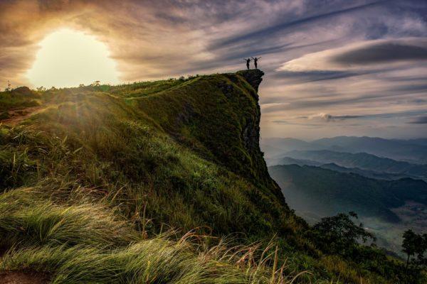 morning at cliff