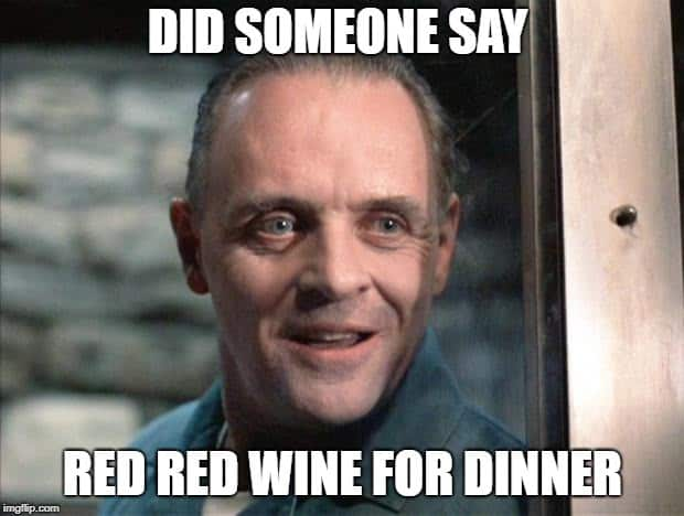 red wine for dinner
