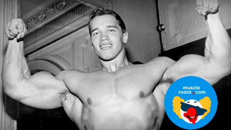 young arnold posing