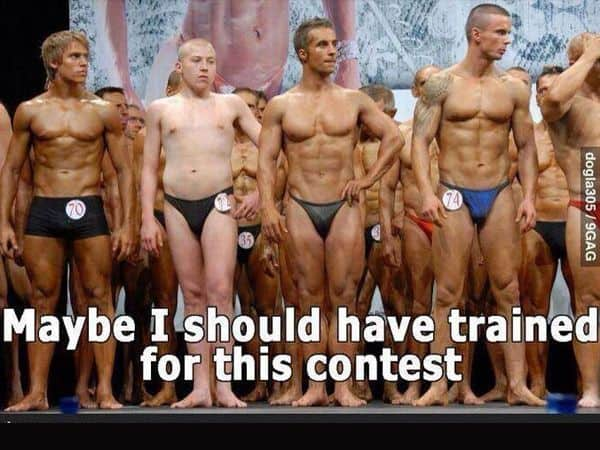 bodybuilding competition funny
