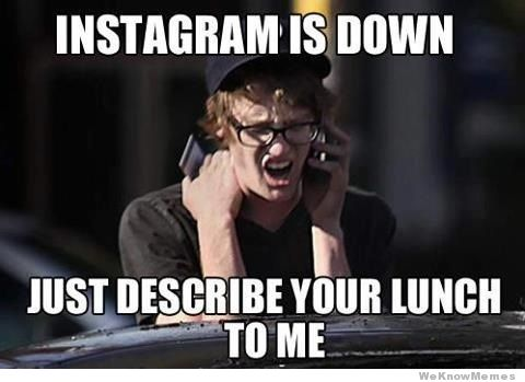 instagram lunch meme