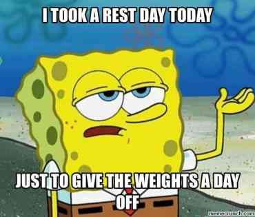rest day meme