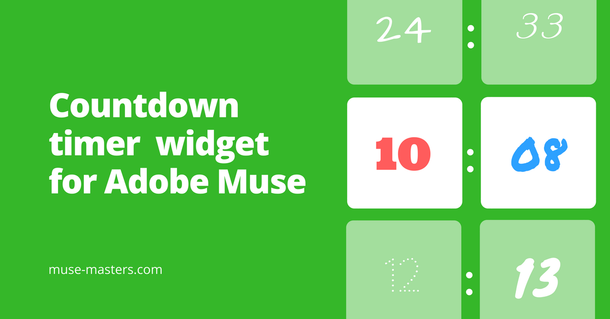 Countdown timer widget for Adobe Muse