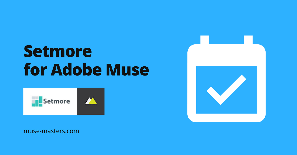 setmore widget for adobe muse
