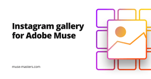 Responsive Instagram gallery with lightbox for Adobe Muse