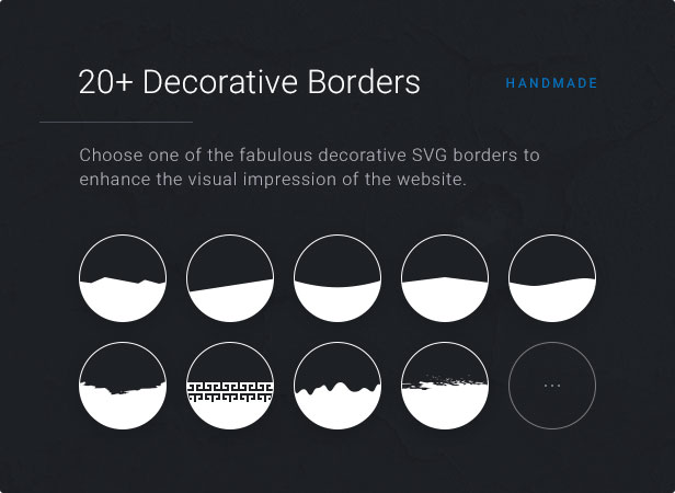20+ Dec Orative Borders: Choose one of the fabulous decorative SVG borders to enhance the visual impression of the website.