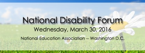 national disability forum