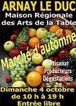 affiche du marché d'automne