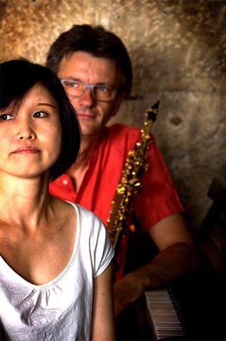 Namiko Magari, piano, et Nicolas Woillard, saxophones.