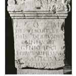 Stèle d'un préfet des vigiles trouvée à Lyon dans le jardin de l'Antiquaille, dédiée à Jupiter.