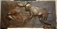 Targhetta scimmie 1915-20, bronzo Roma, Collezione privata