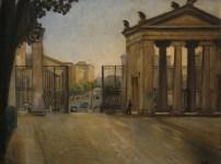 Ercole Drei, Villa Borghese, 1930 c., olio su tela