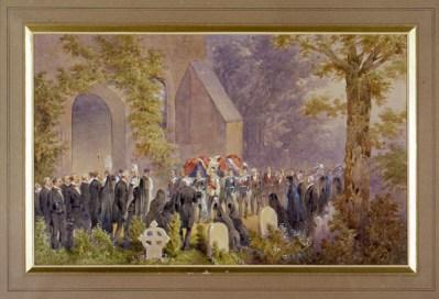 Norie Orlando, I funerali del principe imperiale Napoleone Eugenio, acquerello su cartone, 1879