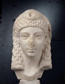 Testa di principessa tolemaica come Iside (Cleopatra?), Scultura, Età ellenistica I secolo a.C, Centrale Montemartini