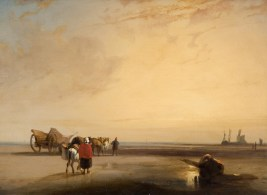 BONINGTON Richard Parkes (1802-1828) Plage de sable en Normandie - vers 1825-1826 - Huile sur toile - 38,7 × 54 cm - Trustees of the Cecil Higgins Art Gallery Bedford (The Higgins Bedford) © Trustees of the Cecil Higgins Art Gallery, Bedford dossier