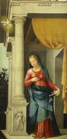 Girolamo Bonsignori (Verona 1472 circa-Mantova 1529), Madonna annunciata, 1510 circa, olio su tela