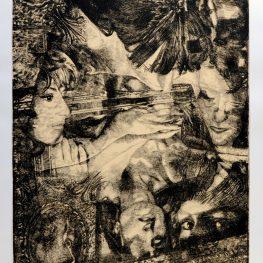 Paolo Ciampini La vita allo specchio (Debora), 2012, acquaforte, mm 750x490