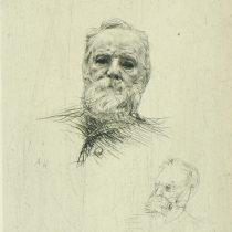 34. Auguste Rodin, Victor Hugo de face, acquaforte, collezione privata, mm 224x160