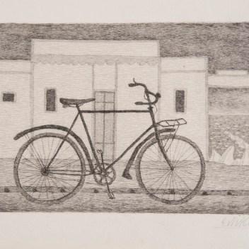 2. Giuseppe Viviani, Bicicletta e mare, 1941, acquaforte (collezione Museo della Grafica)