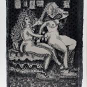 45. Tono Zancanaro, Giuseppe e la moglie di Putifarre, litografia, mm695x500, 1966
