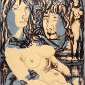 62. Tono Zancanaro, Mostra personale (Didone, Il buon Apollo), litografia, mm510x380, 1966